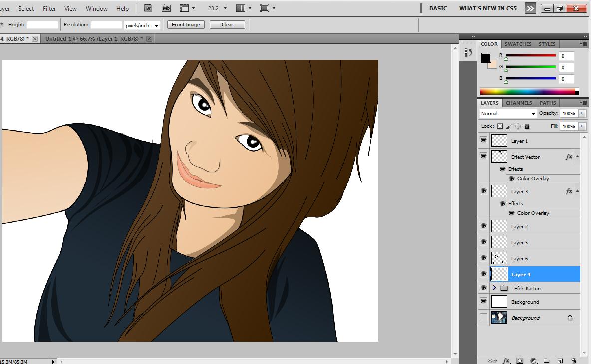 Cara Meng Edit Foto Menjadi Efek Kartun Dengan Photoshop CS5